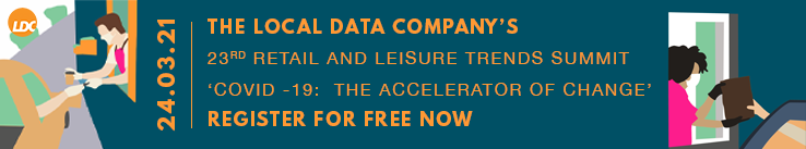 The Local Data Company's 23rd retail and leisure trends summit - Register for free now